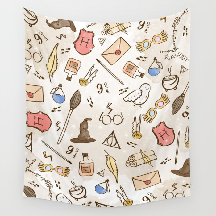 Wizarding Pattern Wall Tapestry