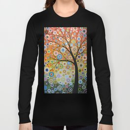 Abstract Art Original Landscape Painting ... Rays of Hope Long Sleeve T-shirt