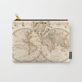 Mappemonde a l'usage du roy (World Map from 1720) Carry-All Pouch