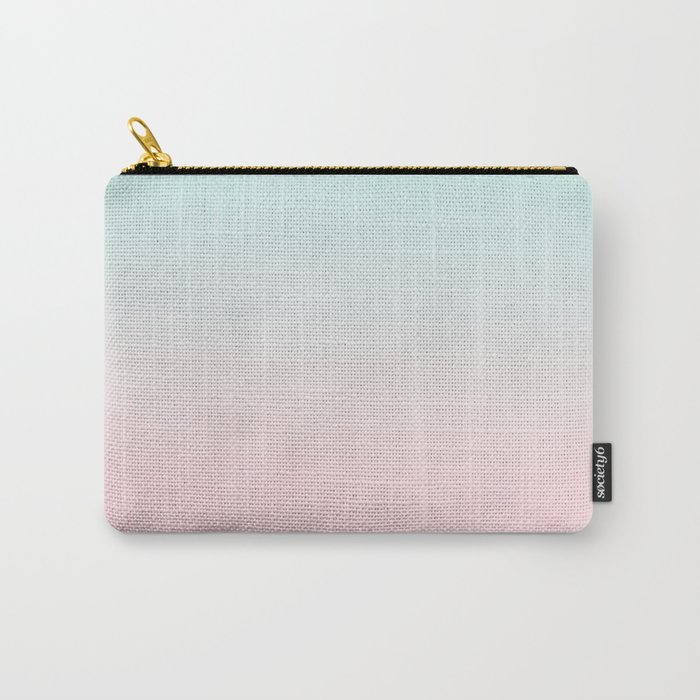 Ellie - ombre fade pastel pink and mint gender neutral nursery baby girly trend style Carry-All Pouch