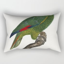 The Red-Lored Amazon Amazona autumnalis from Natural History of Parrots (1801-1805) by Francois Leva Rectangular Pillow