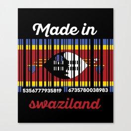 swaziland Barcode Flag Canvas Print