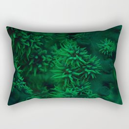 Emerald tentacles Rectangular Pillow