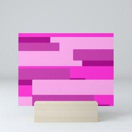 Pink Abstract Pattern Mini Art Print