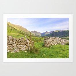 Ben Nevis Mountain Range Art Print