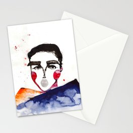 Ula in a Heavy Scarf Stationery Cards