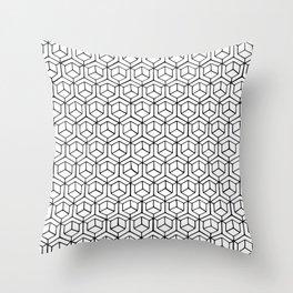 Hand Drawn Hypercube Throw Pillow