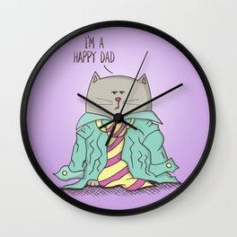 Dad cat Wall Clock