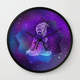 Card Yoga girl Wall Clock