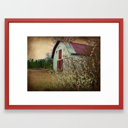 Happy Old Barn Framed Art Print