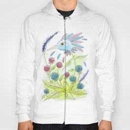 Flower-bird Hoody