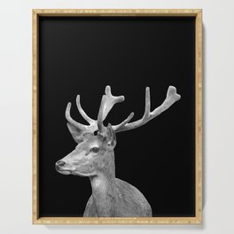 Deer Black Serving Tray