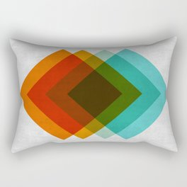 Minimalist blue and red gradient Rectangular Pillow