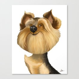 Yorkshire Terrier (Yorkie) Caricature Canvas Print