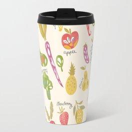 Veggies and Fruits Travel Mug