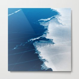 Natural beautiful ice patterns on a river Metal Print