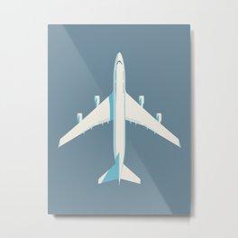 747 Jumbo Jet Airliner Aircraft - Slate Metal Print