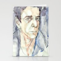 lou reed Stationery Cards featuring Lou Reed by Germania Marquez