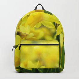 Bright Yellow Narcissus Backpack