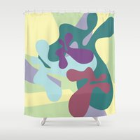 circus Shower Curtains featuring circus by carolinegeys