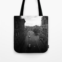 edinburgh Tote Bags featuring Edinburgh by Jane Lacey Smith