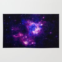nebula Area & Throw Rugs featuring nebulA. by 2sweet4words Designs