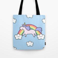 Unicorn with Rainbow Tote Bag