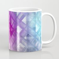 grid Mugs featuring Grid by Christine baessler