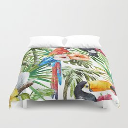 Tropical Bird Pattern 06 Duvet Cover