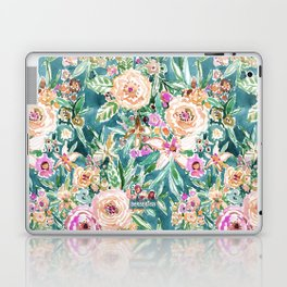 Teal MAUI MINDSET Colorful Tropical Floral Laptop & iPad Skin