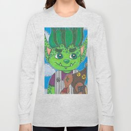 Young Goblin with stuffed dog Long Sleeve T-shirt