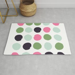 Painted dots minimal colorful pattern polka dots nursery baby decor Rug