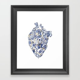 Broken heart - kintsugi Framed Art Print