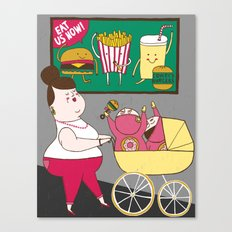 Childhood Obesity Canvas Print