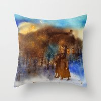 twilight Throw Pillows featuring Twilight by Iris V.