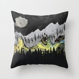 Silicone Mountains Throw Pillow