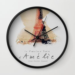 Amelie, minimalist movie poster, french film playbill, the fabulous life of Amélie Poulain, Wall Clock