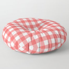 Plaid (Red & White Pattern) Floor Pillow