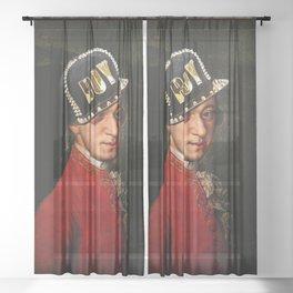 Wolfgang Amadeus Mozart the bad boy Sheer Curtain