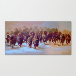 Running Herd Canvas Print