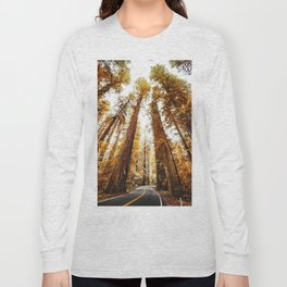 red woods forest in california Long Sleeve T-shirt