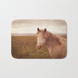 Vintage wild horse Bath Mat