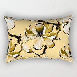 Watercolor Cherry Flowers IX Rectangular Pillow