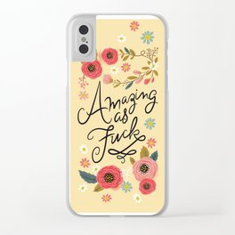 Pretty Swe*ry: Amazing as F Clear iPhone Case