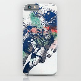 Clavius: RGB   lonely astronaut in the space iPhone Case