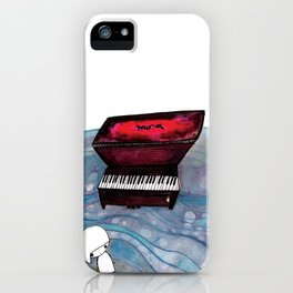 Piano in the Sea iPhone Case