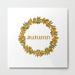 Autumn Wreath Metal Print