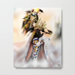 Lady of light Years [Digital Figure Illustration] Metal Print