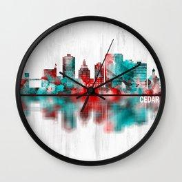 Cedar Rapids Iowa Skyline Wall Clock