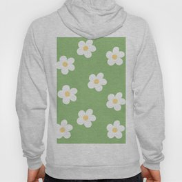 Retro 60's Flower Power Print Hoody
